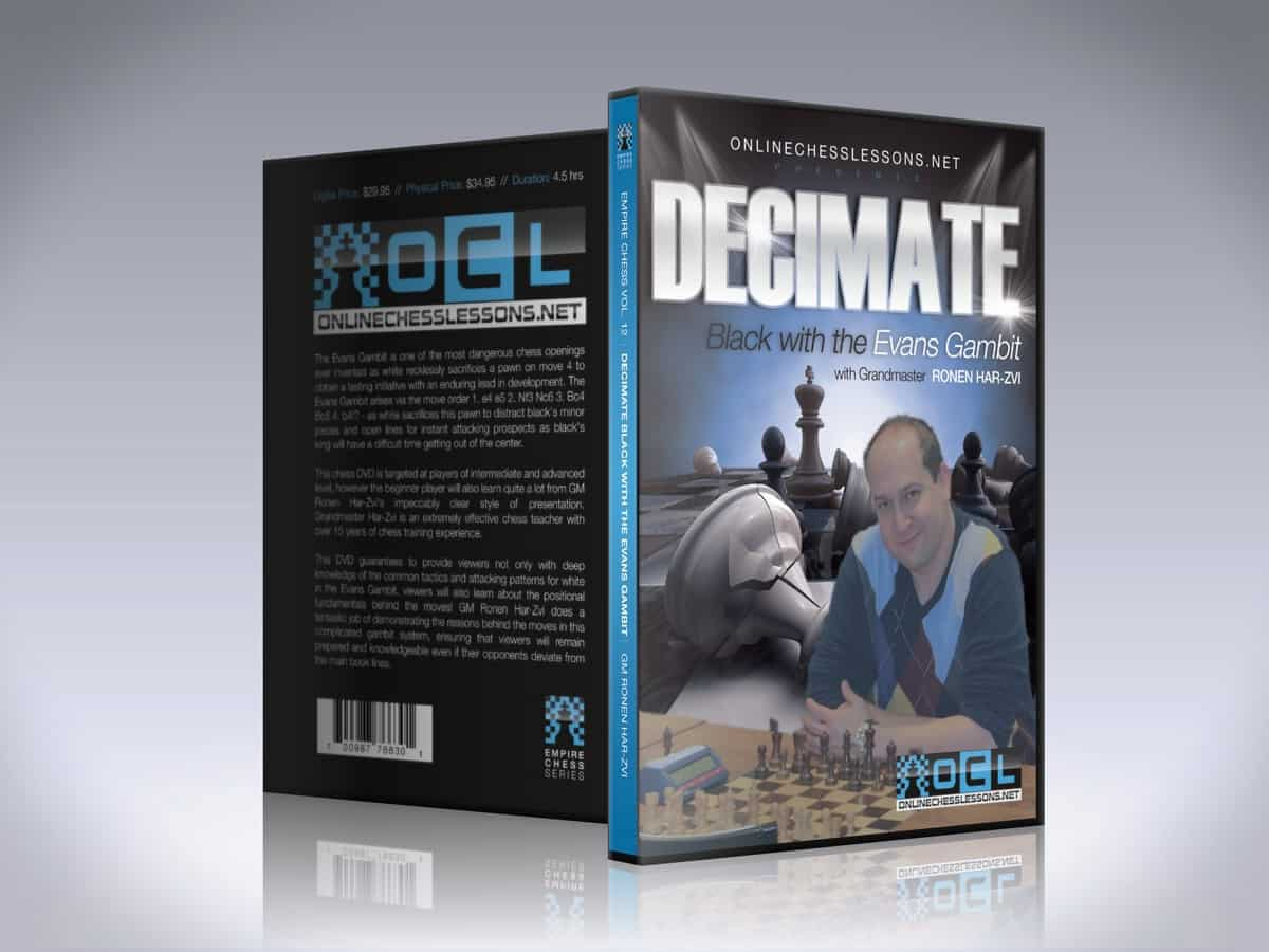 Decimate Black with the Evans Gambit - GM Ronen Har-Zvi