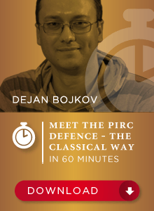 Meeting the Pirc Defence - The classical way! - GM Dejan Bojkov (Digital Download)
