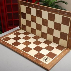 Folding Walnut and Maple Wooden Tournament Chessboard